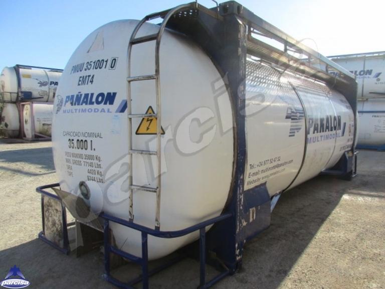 Cisterna Capacidad: 35.045 litros, Nº Compartimentos: 1, Año Fabricación: 1999, Matrícula:
